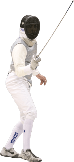 Man fencing for Duke University